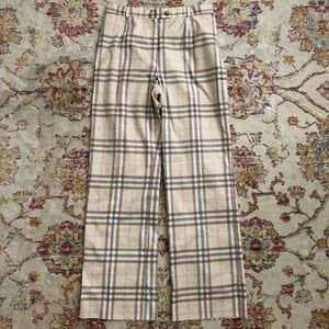 Burberry Plaid Pants